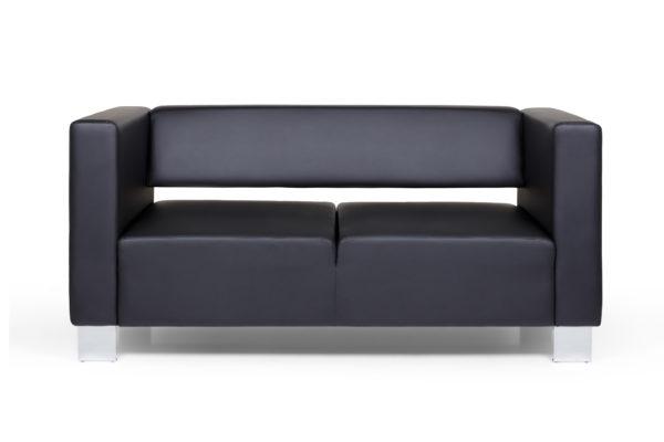 Горизонт двухместный диван, ИК Ecotex, 3001 (черный) (1)