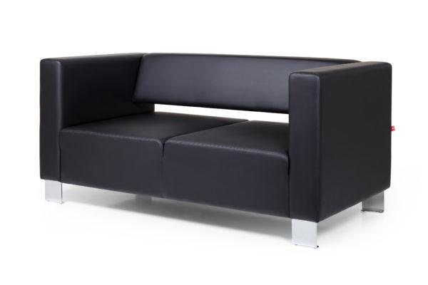 Горизонт двухместный диван, ИК Ecotex, 3001 (черный) (2)