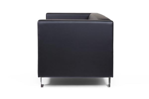 Горизонт двухместный диван, ИК Ecotex, 3001 (черный) (3) без шильды