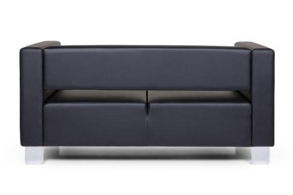 Горизонт двухместный диван, ИК Ecotex, 3001 (черный) (4) без шильды