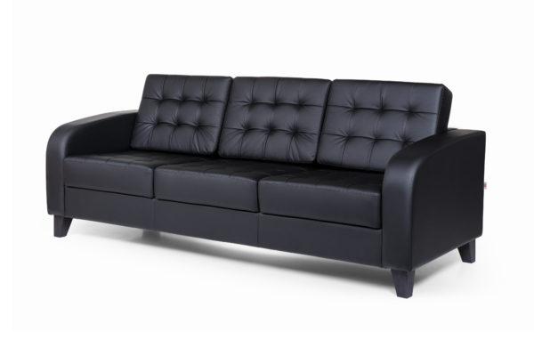 Рольф Вуд трехместный диван, ИК Ecotex, 3001 (черный) (2)