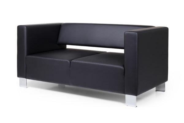 Горизонт двухместный диван, ИК Ecotex, 3001 (черный) (2) без шильд