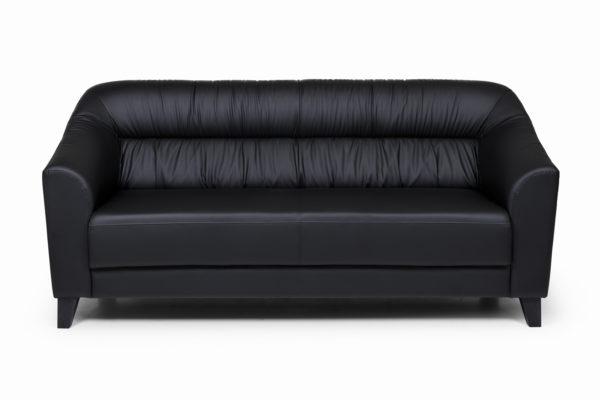 Райт Вуд трехместный диван, ИК Ecotex, 3001 (черный) (1)