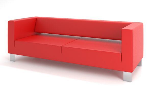 3-местный диван, ИК Ecotex, 3021 (алый)