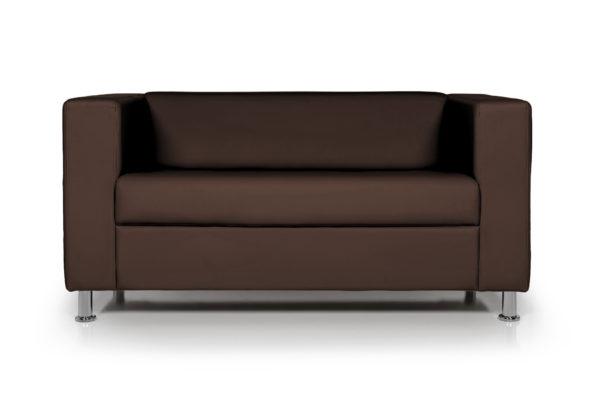 WEB Аполло двухместный диван, ИК Ecotex 3029 темно коричневый