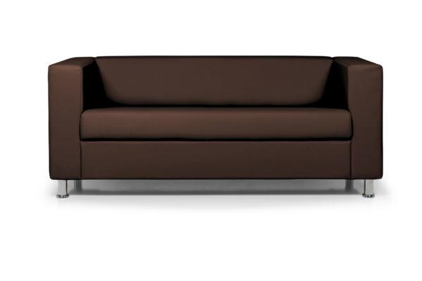 WEB Аполло трехместный диван, ИК Ecotex 3029 темно коричневый